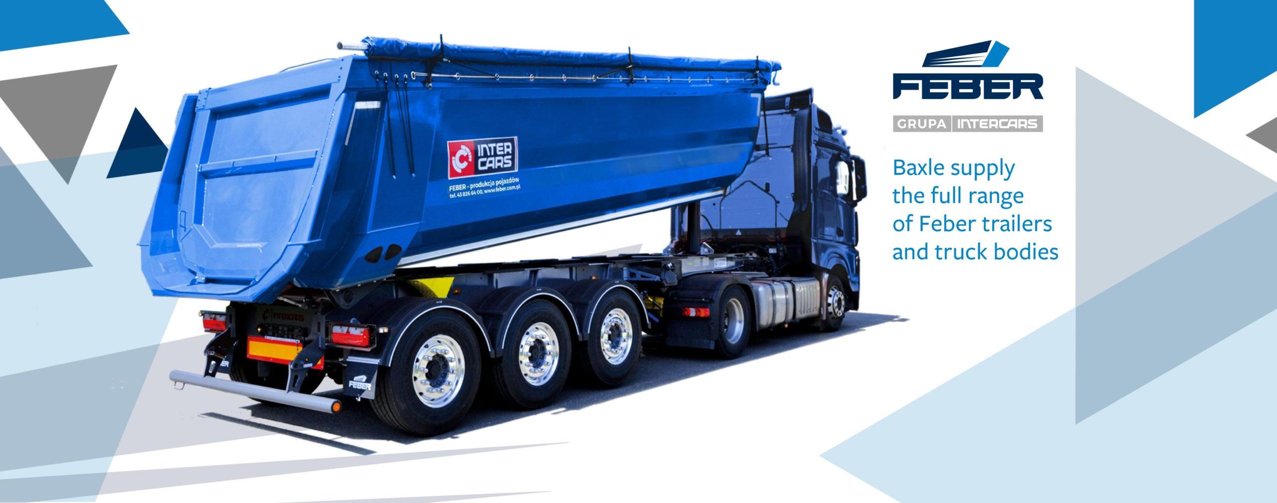 Feber semi-trailers for aggregate transportation at Baxle